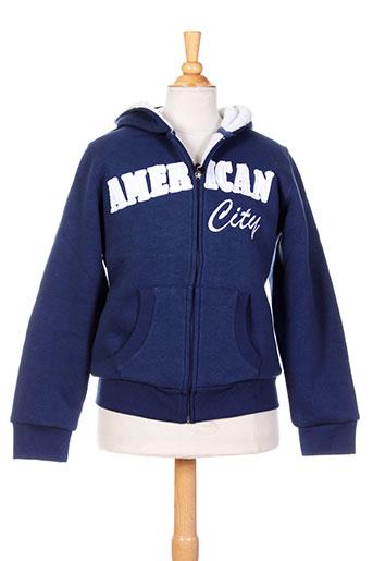 american et city vestes enfant de couleur bleu