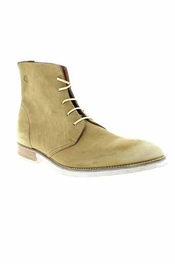 kost boots homme de couleur beige