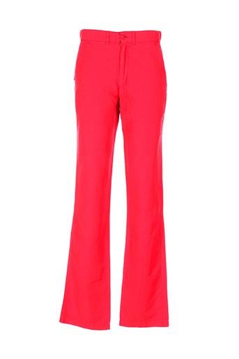 jezequel pantalons homme de couleur rouge
