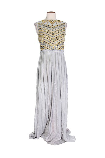 ambre et babzoe robes et longues femme de couleur bleu