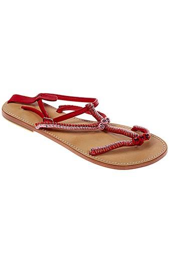 ambre babzoe chaussures femme de couleur rouge