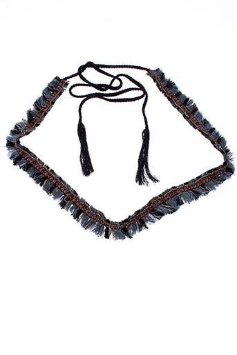 ambre et babzoe ceintures femme de couleur bleu