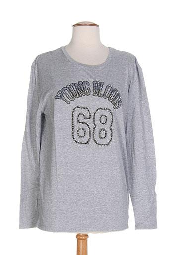 ambre babzoe t-shirts / tops femme de couleur gris