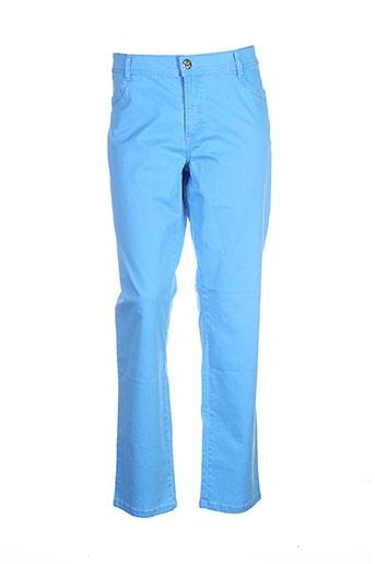cmk pantalons femme de couleur bleu