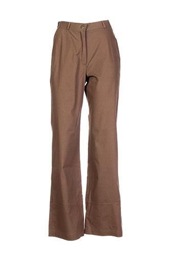 Pantalon casual vert CARNET DE BORD pour femme