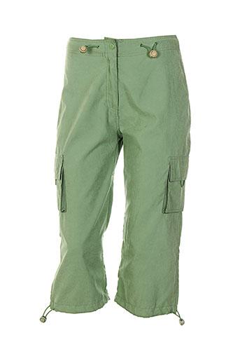 15 et degres et sud pantacourts et decontractes femme de couleur vert (photo)
