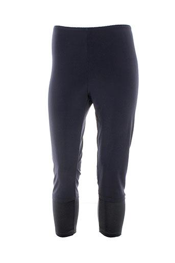 griffonnage pantalons femme de couleur bleu