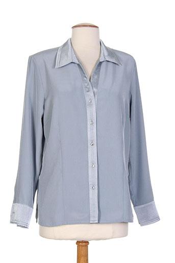 b de brel chemises femme de couleur bleu