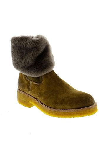 pertini boots femme de couleur marron