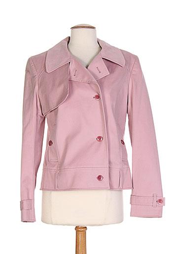 enrique vals vestes femme de couleur rose