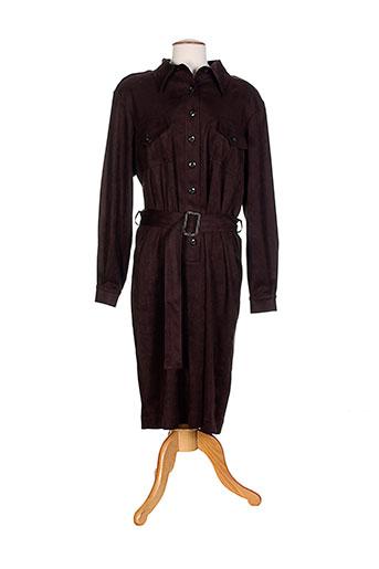 marie clemence robes femme de couleur marron