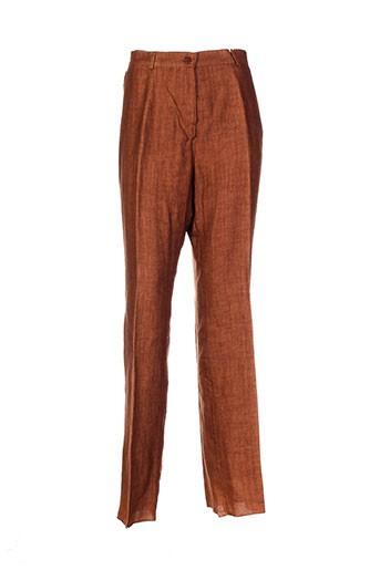 caroline et rohmer pantalons et decontractes femme de couleur marron