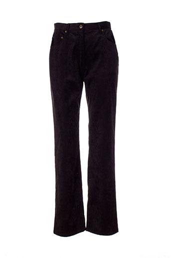 marie clemence pantalons femme de couleur noir
