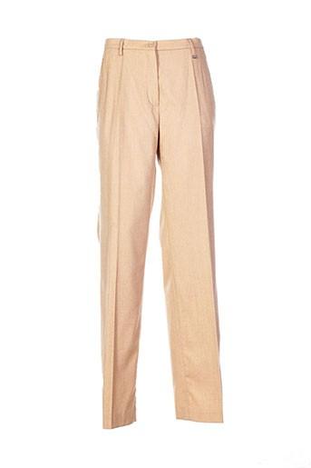hauber pantalons femme de couleur beige
