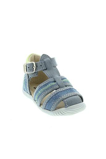 aster sandales et nu et pieds garcon de couleur bleu