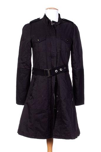 pepe jeans manteaux femme de couleur noir