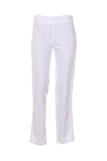 la cotonnière pantalons femme de couleur blanc