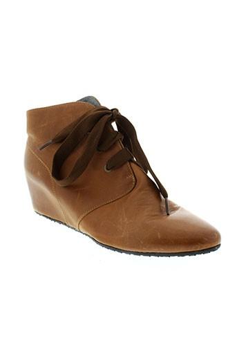 d et lussil boots femme de couleur marron
