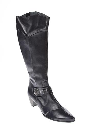 pomares et vazquez bottes femme de couleur noir