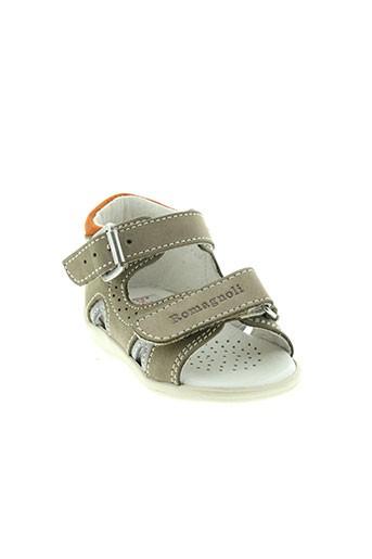 romagnoli chaussures garçon de couleur beige