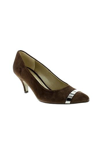 pierre cardin chaussures femme de couleur marron