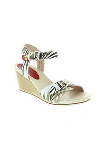 pikolinos sandales et nu et pieds femme de couleur vert