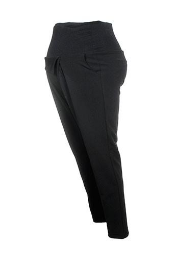 maryley pantalons femme de couleur noir