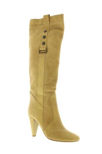 fornarina bottes femme de couleur beige