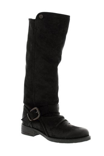 manila et grace bottes femme de couleur noir