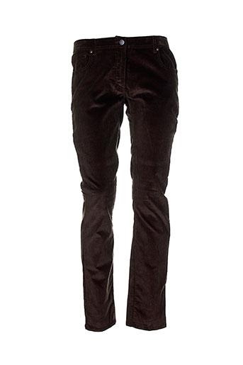 tara jarmon pantalons femme de couleur marron