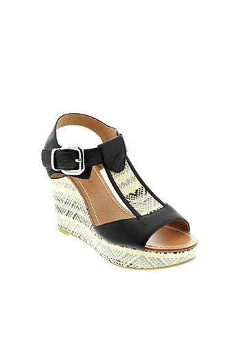 mellow et yellow sandales et nu et pieds femme de couleur noir