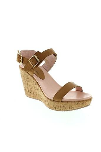 mellow et yellow sandales et nu et pieds femme de couleur marron
