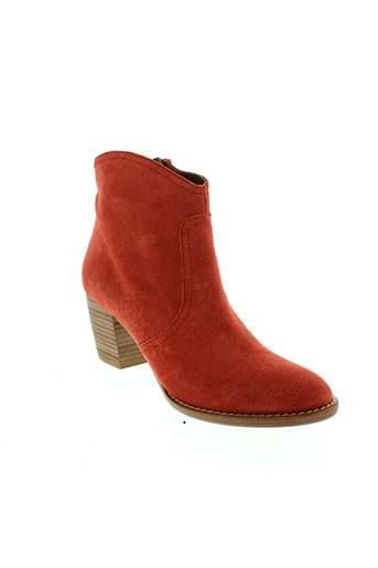 auguste boots femme de couleur orange