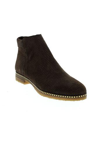 axell boots femme de couleur marron