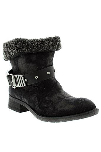 sinly et shoes boots femme de couleur noir