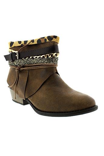 bellucci boots femme de couleur marron
