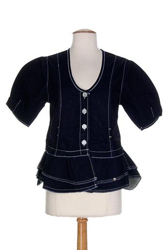 Veste casual bleu CATY LESCA pour femme