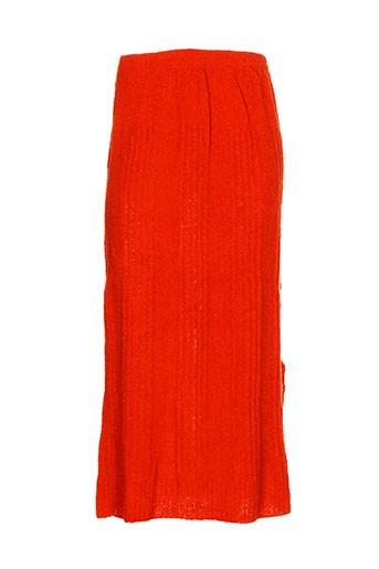 caty lesca jupes femme de couleur orange