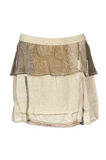 Jupe courte beige CATY LESCA pour femme