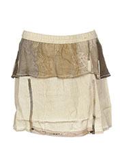 Jupe courte beige CATY LESCA pour femme seconde vue