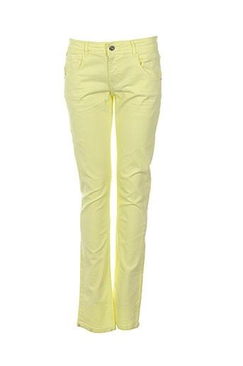 chipie pantalons fille de couleur jaune