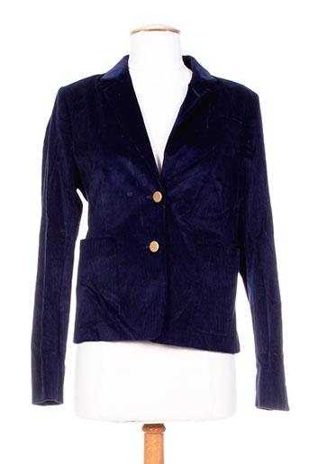 gant vestes femme de couleur bleu