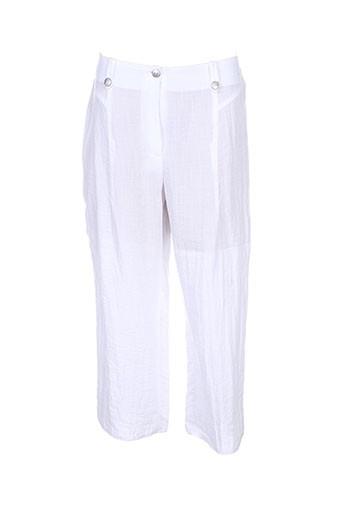 telmail pantacourts femme de couleur blanc