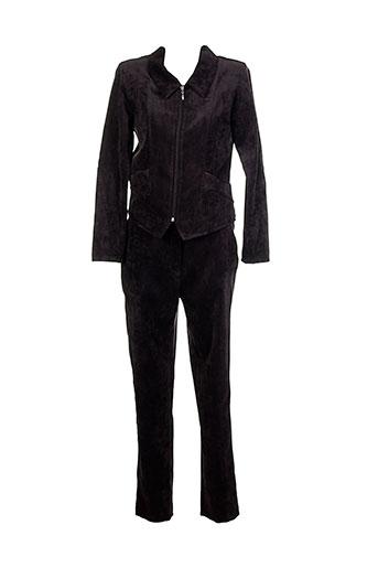 20 et 20 pantalon et veste femme de couleur marron (photo)