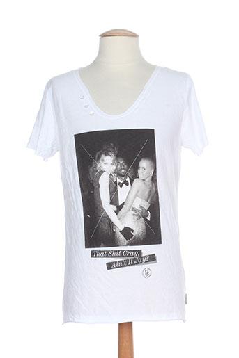 boom bap t-shirts homme de couleur blanc