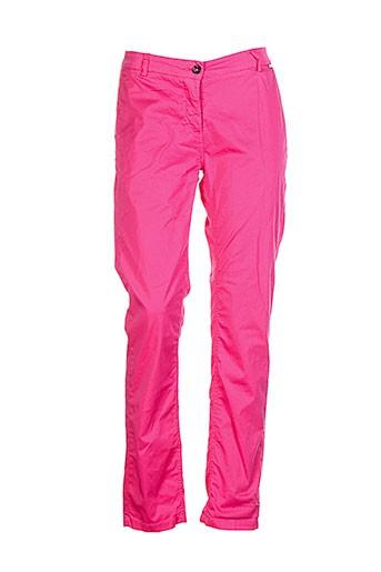 daniel et hechter pantalons et citadins femme de couleur rose