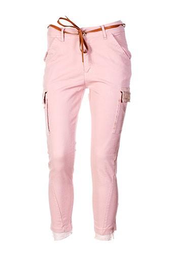 fracomina pantalons femme de couleur rose