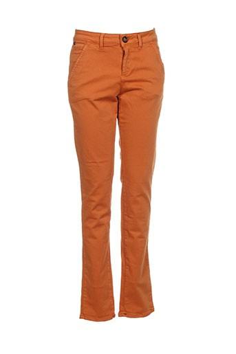red-tag pantalons femme de couleur orange