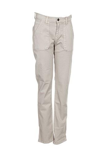 red-tag pantalons femme de couleur gris