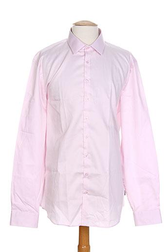 izac chemises homme de couleur rose